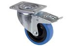 Otočné kolečko Blue Wheel, 100mm s brzdou