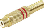 Cinch zásuvka Gold 5,4mm, pár