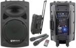 "QTX QR-15PA mobilní 15"" zvukový systém MP3/SD/USB/2x VHF, 250W"