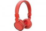 AV:link PBH-10 bezdrátová Bluetooth SD sluchátka červená