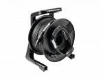 DMX kabel 50m na navíjecím bubnu, XLR Neutrik, 2x 0,22, černý