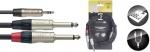Stagg NUC3/MPS2PR, kabel Jack 3,5 mm stereo - 2x Jack 6,3 mm mono