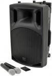 """QTX QX-12 PLUS, mobilní 12"""" řečnický a zvukový systém MP3/BT/FM/2x"""