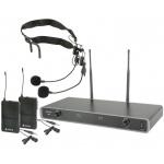 Chord NU2-N duální UHF hlavový bezdrátový mikrofonní systém, 608.050 + 606.175 MHz