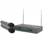 QTX VHF-2 bezdrátový mikrofon 2 kanálový 173,8 + 174,8 MHz