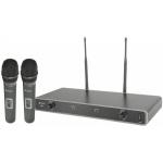 Chord NU2-H duální UHF ruční bezdrátový mikrofonní systém 611.775 + 613.825 MHz