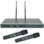 Chord NU20-H duální UHF ruční bezdrátový mikrofonní systém 863.8MHz + 864.8 MHz