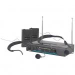 QTX VHF-HS2 bezdrátový mikrofon 2 kanálový