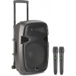 "Stagg RE-VOLT12U EU mobilní 12"" zvukový systém BT/2x UHF"