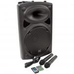 """QTX QR12PABT mobilní 12"""" zvukový systém MP3/BT/SD/USB/2x VHF"""