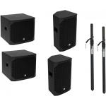 Omnitronic PA AZX Set aktivních reproduktorů a subwooferů s distančními tyčemi
