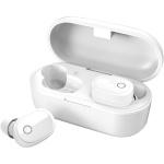 AV:link Sound Shells bezdrátová Bluetooth sluchátka s nabíjecím pouzdrem bílá