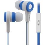 AV:link gumová sluchátka s handsfree modro-bílá