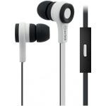 AV:link gumová sluchátka s handsfree černo-bílá