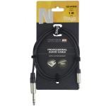 Stagg NAC1MPSPSR kabel stereo JACK/MINI JACK 1m