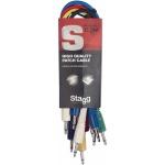 Stagg SPC030MJ E 6x propojovací kabel Mini Jack/Mini Jack 30 cm různé barvy