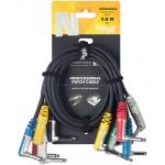 Stagg NPC060LR-6 propojovací kabely 6x mono JACK/mono JACK 60 cm