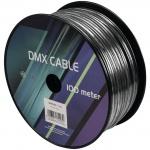 Kabel DMX 2x 0.22 100m černý