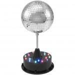 Eurolite LED zrcadlová koule 13 cm se základnou