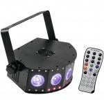 Eurolite LED SCY-5 Hybrid 5x4W QCL 30x0,2W RGB paprskový efekt