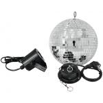 Set LED zrcadlová koule 20 cm