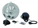 Set zrcadlová koule 30cm s LED RGB spot IR