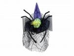 Halloween čarodějnický klobouk s pavoukem