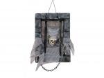 Halloween kostlivec ve vězení, 46 cm