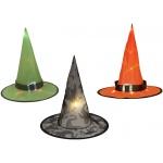 Europalms Halloween Witch Hat 3pc set illuminated 36cm