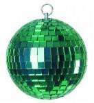 Zrcadlová koule 10 cm zelená