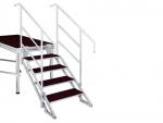 Schodiště pro výšku pódia 70-130 cm 4 stupně