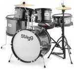 Stagg TIM JR 5/16B BK, dětská bicí sada, černá