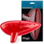 Stagg OCA-PL RD, okarína červená