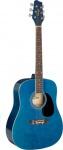 Stagg SA20D 3/4 BLUE, akustická 3/4 kytara, modrá