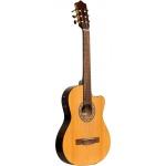 Stagg SCL60 TCE-NAT, klasická kytara 4/4 s elektronikou, přírodní
