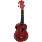 Dimavery UK-100 elektroakustické sopránové ukulele červené