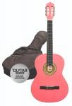 Klasická kytara paket 3/4 růžová
