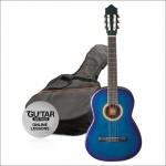 Klasická kytara paket 3/4 modrá