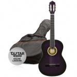 Klasická kytara paket 3/4 fialová