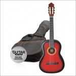 Klasická kytara paket 3/4 červená