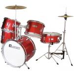 Dimavery JDS-305 dětská bicí sada červená