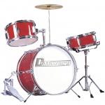 Dimavery JDS-203 dětská bicí sada červená
