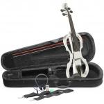Stagg EVN X-4/4 WH elektrické housle bílé