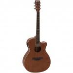 Dimavery AW-410 elektroakustická kytara typu Grand Auditorium, přírodní