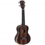 Dimavery UK-800 elektroakustické koncertní ukulele ebenové