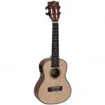 Dimavery UK-800 elektroakustické koncertní ukulele vrchní deska masivní smrk