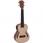 Dimavery UK-800 elektroakustické koncertní ukulele vrchní deska smrk