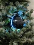 Sněhové LED koule 8 cm černá 5 ks