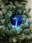 Sněhové LED koule 8 cm tmavě modrá 5 ks