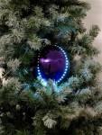 Sněhové LED koule 8 cm fialová 5 ks